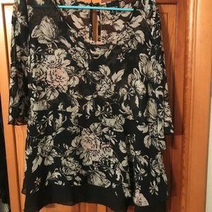 Torrid peplum blouse
